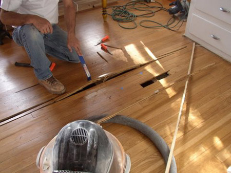 Perfect Stained Wood Floor Can Be Repaired By The Wood Floor Doctor